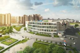 3D-визуализация торгового центра реутов-парк