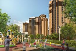 3D-визуализация проекта новокосино-2 жилые здания