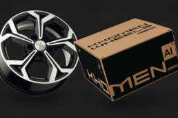 дизайн упаковки дискового колеса khomen wheels