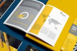 дизайн корпоративной брошюры нефтесервисной компании