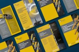 дизайн листовок и буклетов сделанных в рамках рекламно-графического сопровождения нефтесервисной компании ньютек сервисез