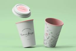 стаканы бумажные детского кафе птифур
