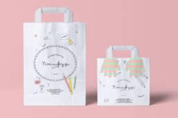 пакеты бумажные брендированные детского кафе птифур