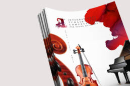 дизайн обложки брошюры в новом фирменном стиле конкурса чайковского