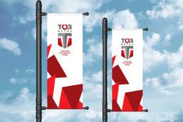 вертикальные фирменные флаги тоз-метиз