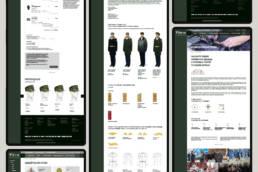 дизайн внутренних страниц сайта фабрики золотое руно