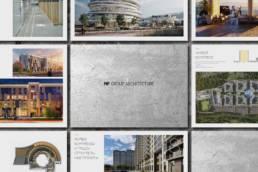Страницы презентации архитектурной компании MP Group Architecture