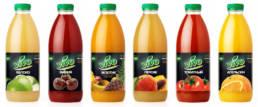 Дизайн серии стеклянной упаковки фруктового сока бренда Vivo
