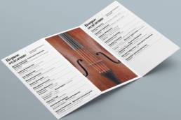 Программа концерта класса виолончели Центральной музыкальной школы при Московской консерватории. Внутренний разворота.