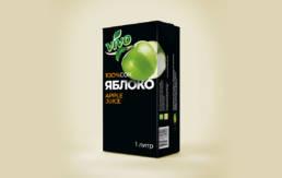Дизайн упаковки яблочного сока торговой марки Виво
