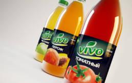 Дизайн серии этикеток для натуральных соков