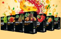 Дизайн серии упаковок соков и нектаров торговой марки Виво