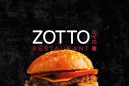 Логотип ресторана Zotto (Зотто). Разработан в Аргентум Дизайн.