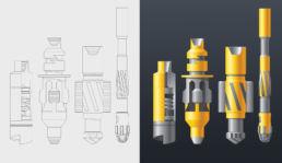 Иллюстрация бурового оборудования для компании NewTechServices. Векторная графика, градиентная заливка.