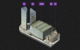 Пиксельная иллюстрация схемы объекта недвижимости для управляющей компании Plaza Management